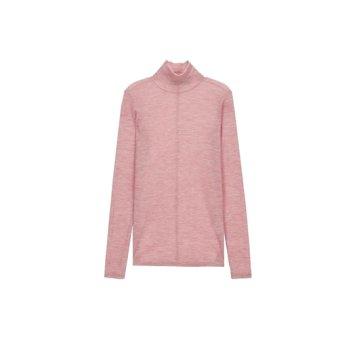 핑크 단색 울 긴팔하이넥티셔츠JSTS9D810P2