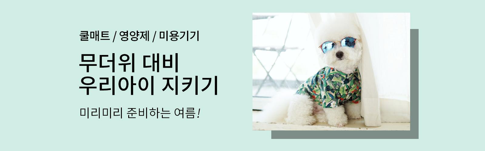 쿨매트/영양제/미용기기 무더위 대비 우리아이 지키기 미리미리 준비하는 여름!