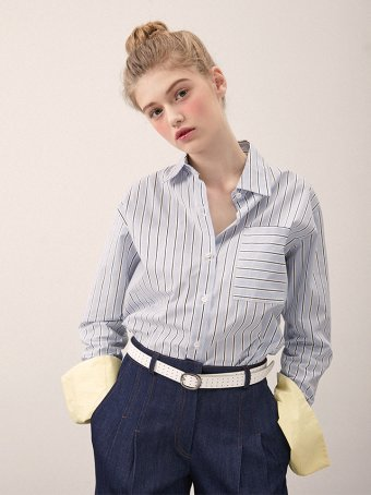 ITEM: 컬러블록 셔츠