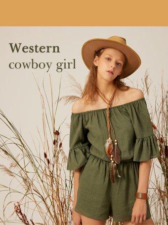 Western Cowboy Girl