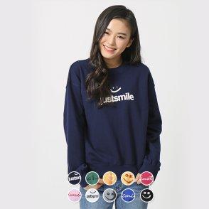 여 크루넥 스웨트 셔츠(패턴) 329503P