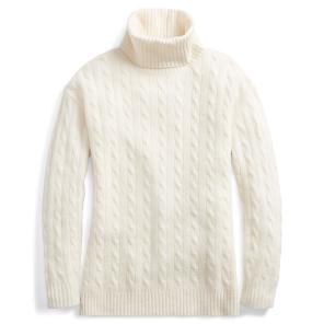 폴로 랄프 로렌 슬릿 케이블 터틀넥 스웨터(WMPOSWEN6810195B64)