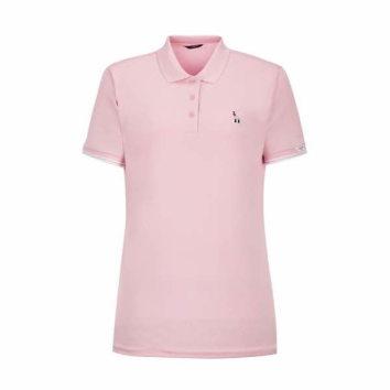 여성 핑크 퍼피자수 반팔카라티셔츠 (HWTS0B311P1)