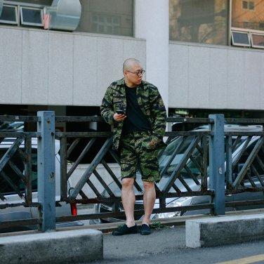 Stan Ray 4 Pocket Fatiuge Short 5579 Green Tigerstripe Ripstop