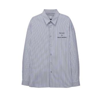 네이비 이그나시 아트웍 백 패치 셔츠 JNSH0B605N2