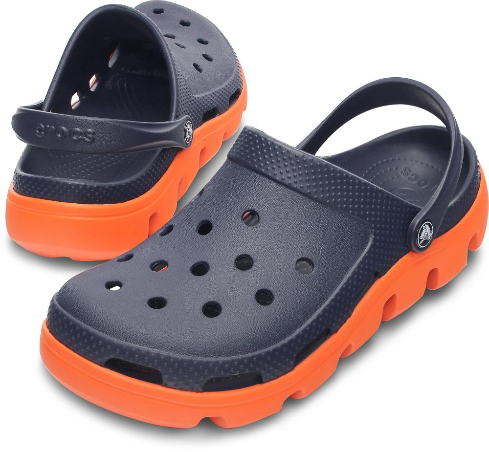 Crocs 남녀공용 듀엣스포츠 클로그_11991-066 (블랙/화이트)