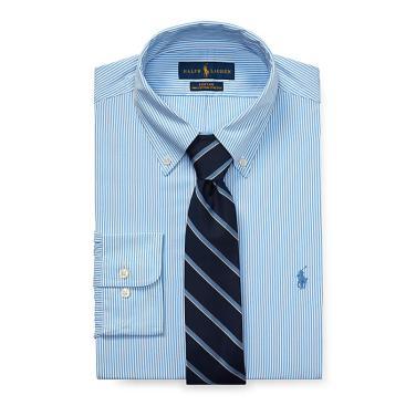 폴로 랄프 로렌 클래식 핏 스트라이프 셔츠(MNPODSH37610126B35)