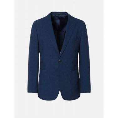 Suggello 블루 울/리넨 마이크로 체크 시어서커 재킷 (GA9411U33P)