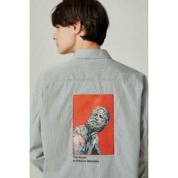 그레이 이그나시 아트웍 백 패치 셔츠 JNSH0B604G2