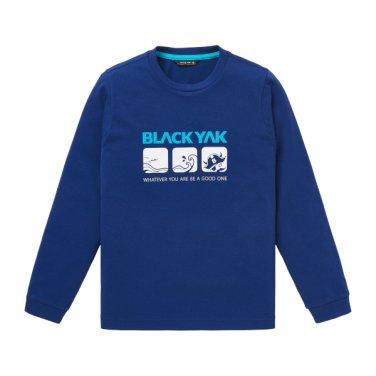야크 오리지널 라인의 긴팔 라운드넥 티셔츠 [BK보드티셔츠]