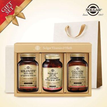 (시니어여성건강세트) 솔로바이트 + 감마리놀렌산 + 구연산 칼슘 비타민D