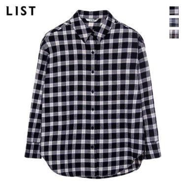 드롭숄더 오버핏 체크 셔츠 (TWWSTI80050)