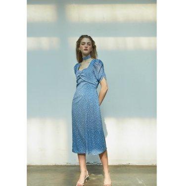 [살롱드욘]Puff Shoulder Square Neck Dress 2COLOR (19YOHN12E)