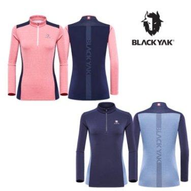 여성용 등산기능성 반집업티셔츠 B3XT5티셔츠-2