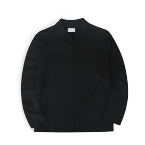19F/W 오버롱 피케티셔츠 (블랙)