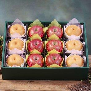 [햇살아름]진품 사과 배 혼합선물세트 8kg이상(사과6개,배6개/특품)