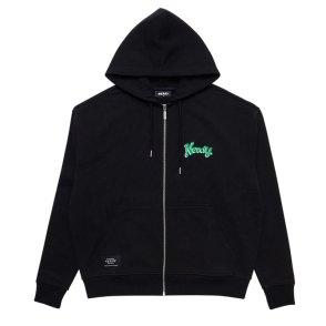 남녀공용 Hooded Zip-up Black (21067_BK)