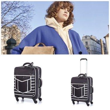 15주년 캐리어 P8719001 블랙 NITE BOX 세상 가벼운 야광 소프트 20인치 기내 가방