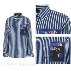리버클래시(DJ) 네이비 멀티 스트라이프 세미루즈핏 셔츠 LGS31429