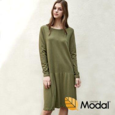 모달 롱슬리브 드레스 N7WFD5014J