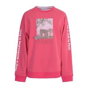 리버클래시(DG) 핑크 프린팅 맨투맨_LFW41413DG