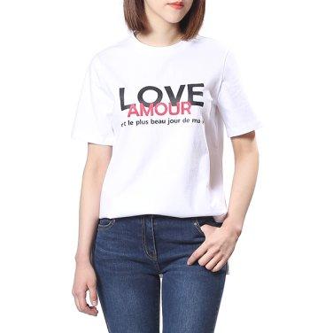 레터링 반팔 티셔츠(OW9ME309)