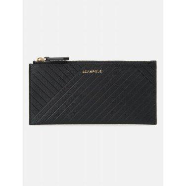 (여) 블랙 케이트 롱 카드지갑 (BE91A4M725)