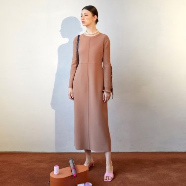 Ordu Arm Point Dress_Rose Camel (JC19FWOP01RC)