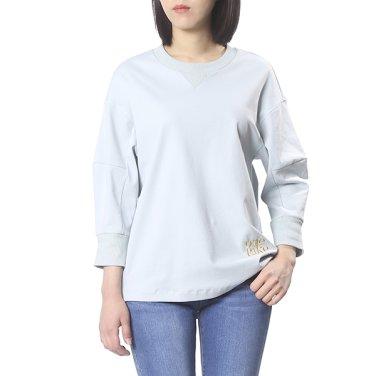 레터링 포인트 맨투맨 티셔츠 OW9ME346-EL3