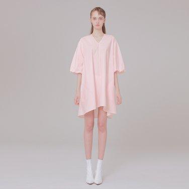 V-NECK detail dress 001 pink