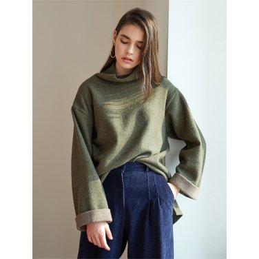 [에프코코로미즈] high neck wool knit KK