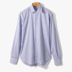 [TBRM]CLASSIC DRESS SHIRT (STRIPE 1) BLUE/TB92M40000A78