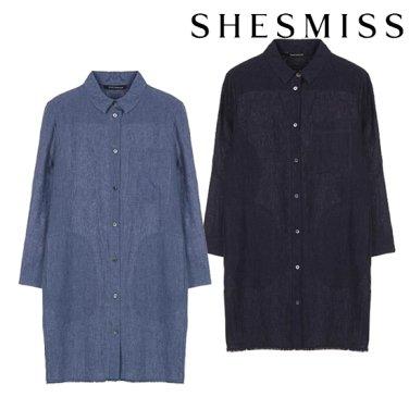 사이드 슬릿 린넨 롱 셔츠 (SWWSTI21010)