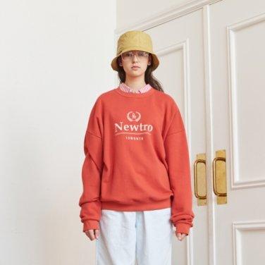 NEWTRO PRINTING SWEAT SHIRT (ORANGE)