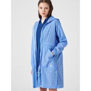 블루 여성 초경량 롱 펀칭 재킷 (BO9339C02P)