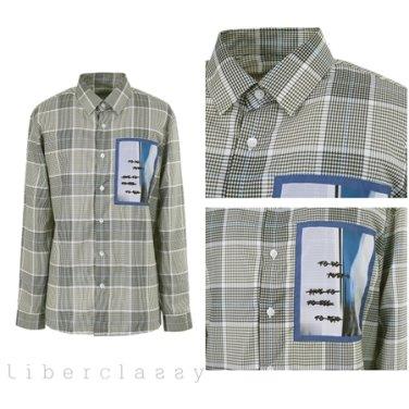리버클래시(DJ) 라이트그레이 체크 그래픽 프린트 세미루즈핏 셔츠 LGS31428
