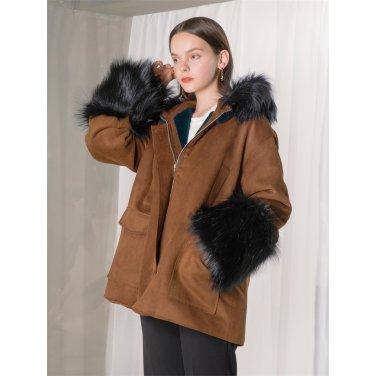 [누팍]Fur Hood Short Outer