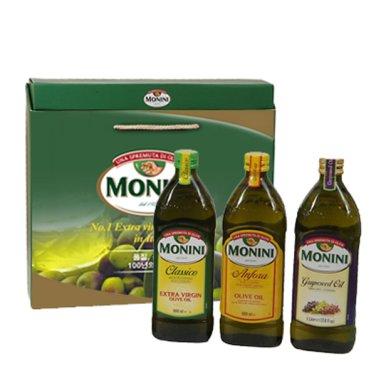 모니니 오일 5호 선물세트(버진&퓨어올리브유 1ℓ/포도씨유 1ℓ)/무료배송
