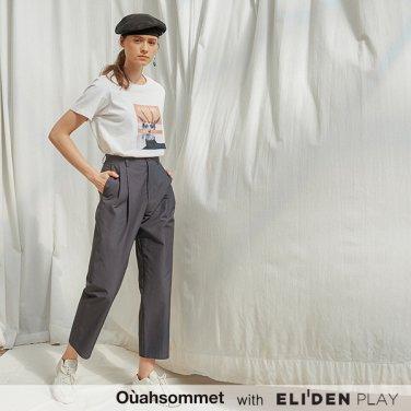 [우아솜메] Ouahsommet High-waisted Baggy Pants_GY (OBFPT009A)