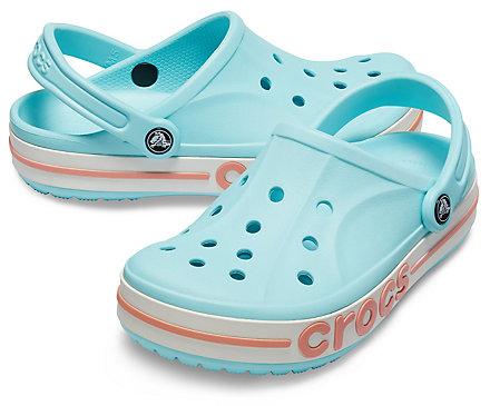 Crocs 남녀공용 바야밴드 클로그_205089-4JF (아이스블루/멜론)