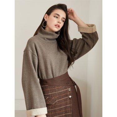 [에프코코로미즈] high neck wool knit BR