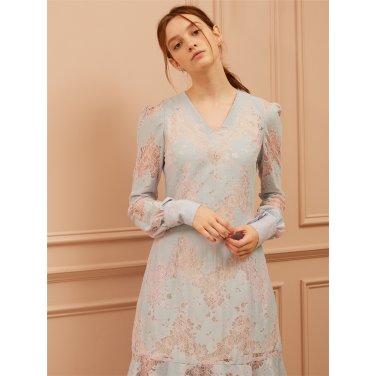 [까이에] Guipure Lace Midi Dress
