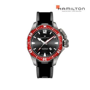 H77805335 카키 프로그맨 티타니움 46mm 블랙 러버 남성 시계