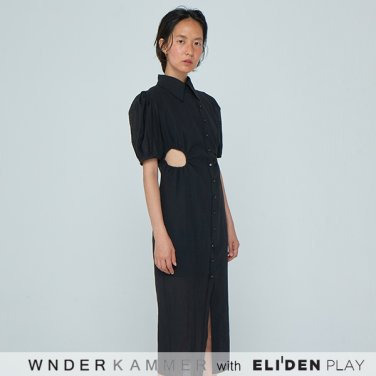 [분더캄머:WNDERKAMMER] 20SS Prune Dress Black (WK0S4-PROP040)