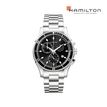 H37512131 재즈마스터 씨뷰 크로노 쿼츠 블랙 메탈 남성 시계