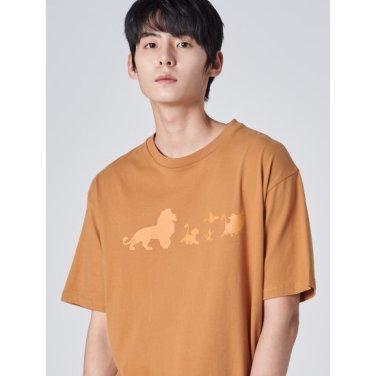 남성 [라이온킹] 머스터드코튼 프린팅 반소매 티셔츠 (429742LX1G)