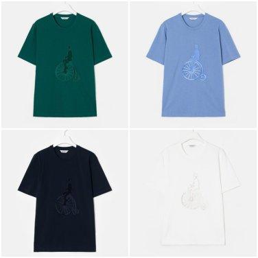 S/S 코튼 로고 싱글 라운드넥 티셔츠(BC9342A15M_Y)