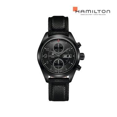 H71626735 카키 필드 오토크로노 42mm 블랙 PVD  남성 시계