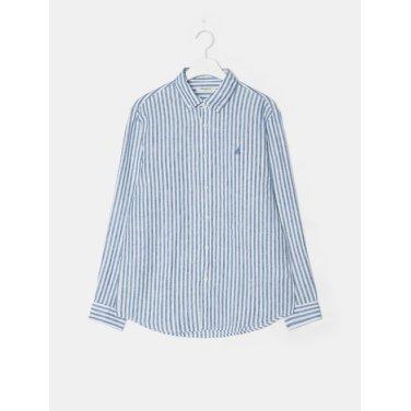 19SS  [SLIM] 블루 리넨 스트라이프 셔츠(BC9364A30P)
