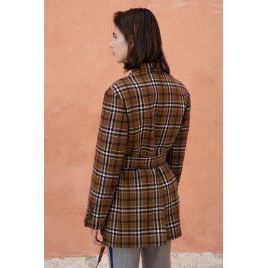 [아바몰리][조윤희,레드벨벳 예리,이다희 착용] 1041 Collin Check Belted Jacket_CAMEL